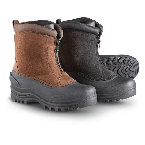 mens zipper snow boots s itasca monarch insulated front zip pac boots