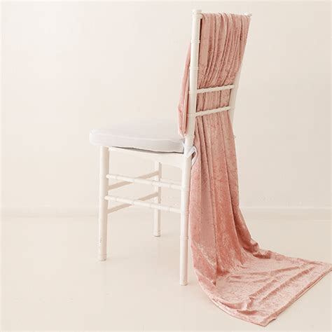 chair drapes cream velvet chair drape the pink label