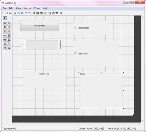 guide layout editor matlab заметки про matlab создание графического интерфейса