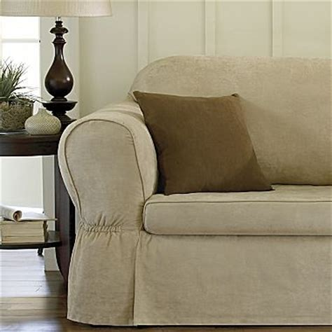jc penny slipcovers slipcovers microsuede two piece sofa jcpenney