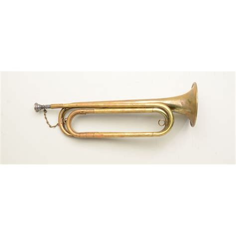 white bugle u s style brass bugle marked the h n white