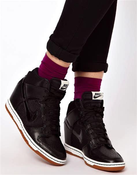 Nike Wedges Sky Dunk Colour Kode Ss6186 nike nike dunk sky high mesh black wedge trainers at asos