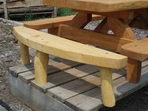 half picnic table bench tamarack log and timber homes 187 creative designs
