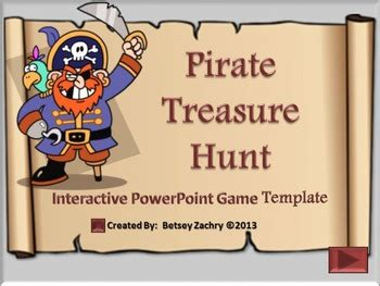 Pirate Treasure Hunt Powerpoint Game Template By Betsey Zachry Tpt Pirate Powerpoint Template