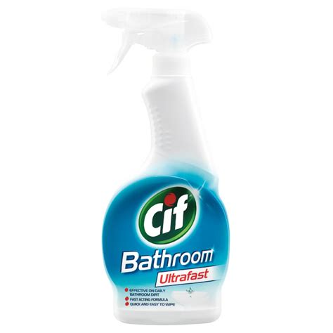 Cleaner For Bathroom by B M Cif Bathroom Cleaner Ultrafast 450ml 297469 B M