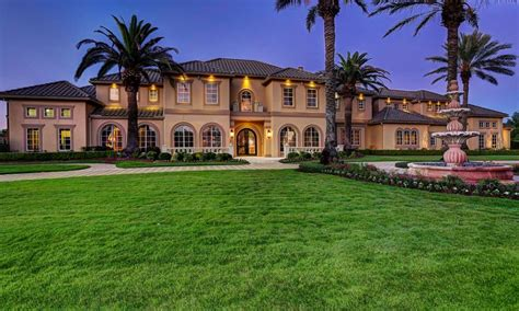 2 25 Million Mediterranean Style Waterfront Mansion In Luxury Homes In Katy Tx