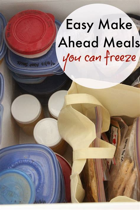 easy make ahead meals you can freeze