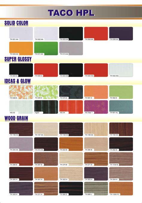 Lem Hpl Taco hpl taco surabaya distributor harga agen lem motif warna high pressure laminate sheets hpl