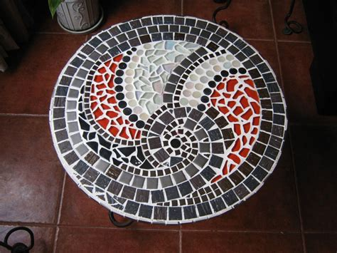 mosaic pattern spiral mosaic table spiral from top my mosaic tables