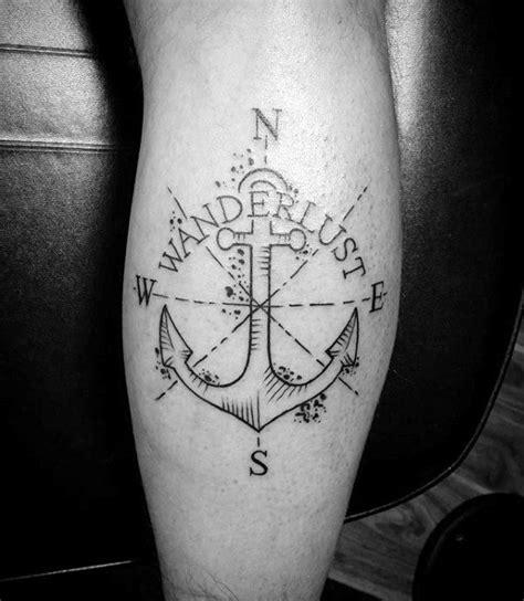 compass tattoo calf 70 wanderlust tattoo designs for men travel inspired ink