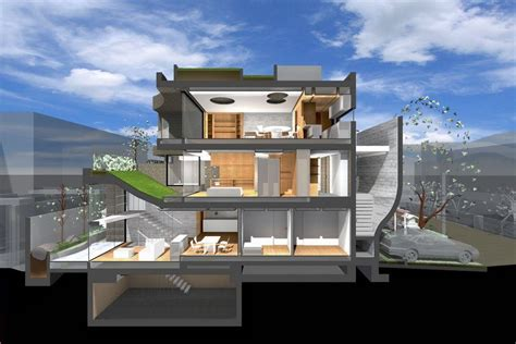 sectional perspective archshowcase breeze in setagaya tokyo by artechnic