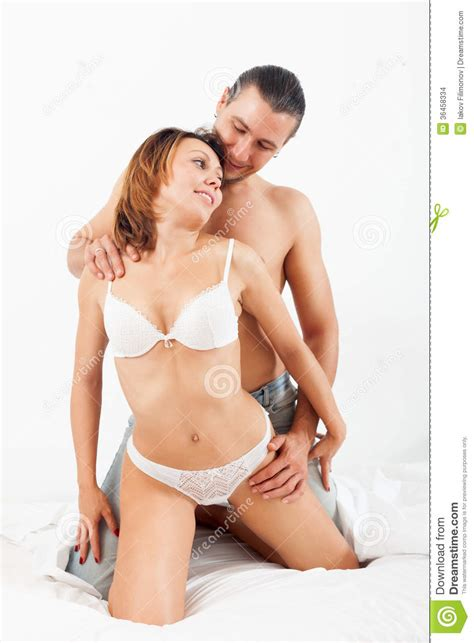 sex bedroom images adult couple having sex on bed in bedroom on white