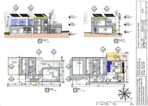 Plan Maison Contemporaine Gratuit 3077 by Plan Maison Moderne Pdf