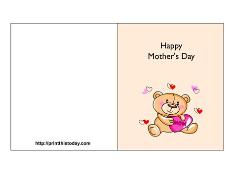 printable card for mom free mother s day cards