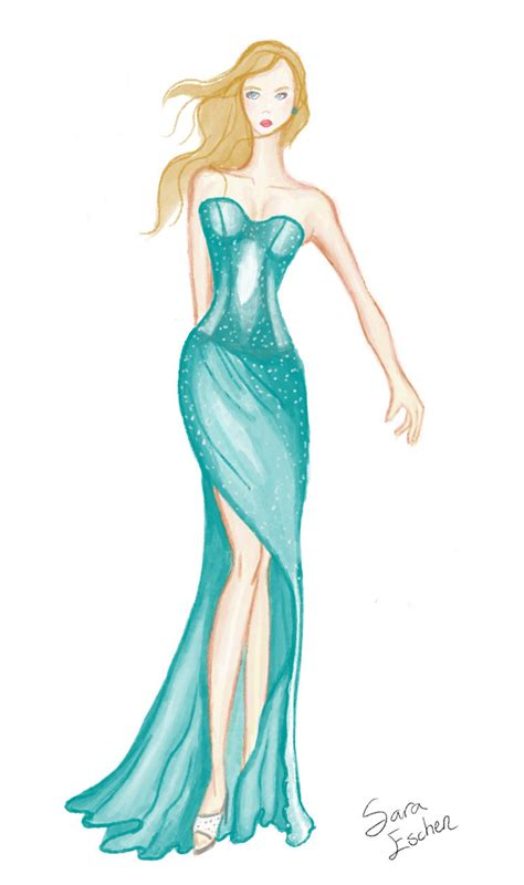 Sketches Clothes by How To Draw Designer Dresses Easy Studio Design