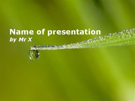 Drop Of Water Ready To Fall Powerpoint Template Ready Powerpoint Presentations Free