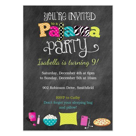 pajama party invitation template cimvitation