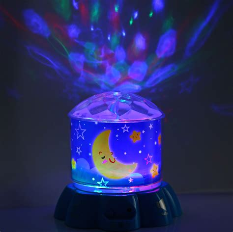 star projector led rotating musical night light touch