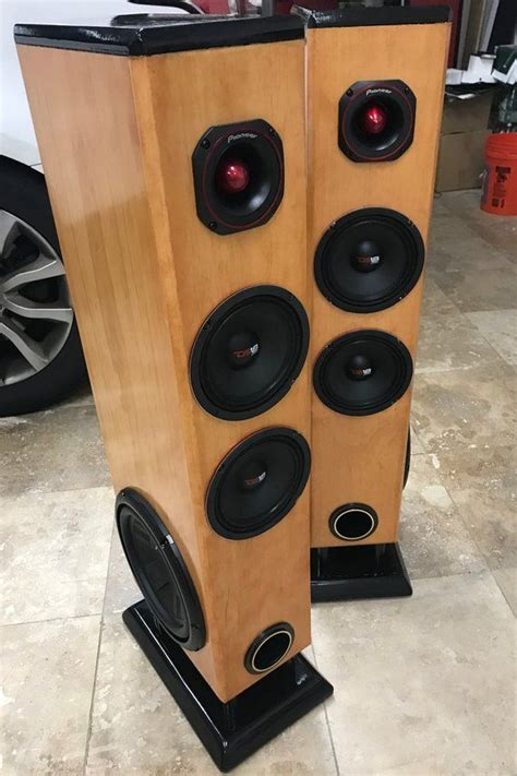 custom  tower floor speakers set