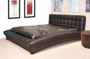 belair cal king modern platform bed in bonded leather