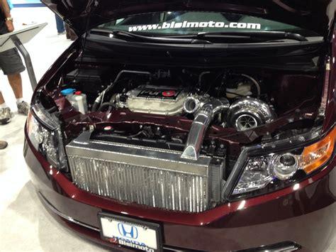 bisimoto odyssey engine 1029 hp bisimoto 2014 honda odyssey hauls at 2013 sema