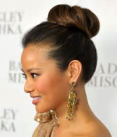 hair bun styles with beyond the aisle fall hair trend ballet bun wedding