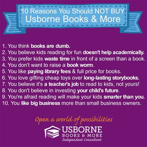 what do you about you books 10 reasons you should not buy books from usborne books more