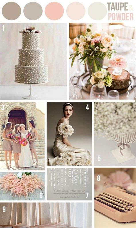 color palette for wedding taupe powder pink wedding color scheme wedding color