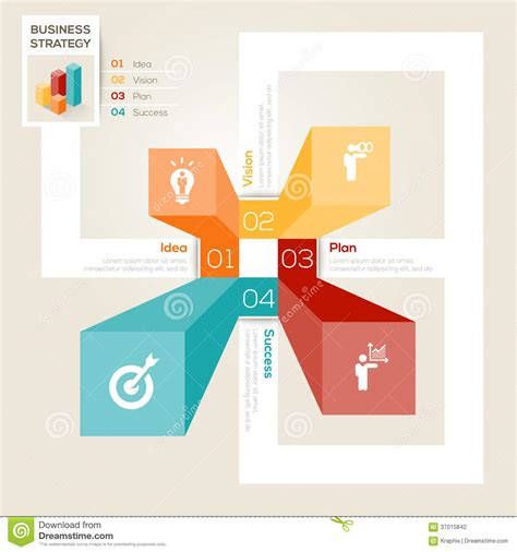 Layout Design Strategy | business strategy design layout stock vector