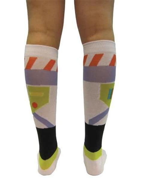Stylehive Buzz Thigh High Scrunchable Socks Are As As They Are Cozy Fashiontribes Fashion by Story Buzz Lightyear Knee High Socks If Someone