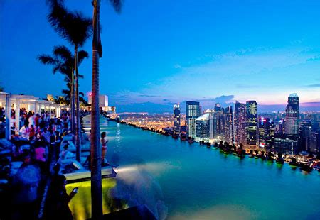 Bar On Top Of Marina Bay Sands by Humor Feast Top 10 Rooftop Pools
