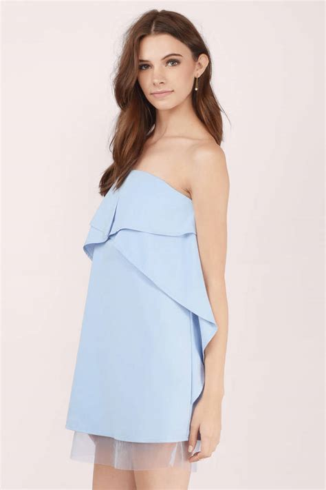 Light Blue Shift Dress by Light Blue Shift Dress Blue Dress Ruffled Dress