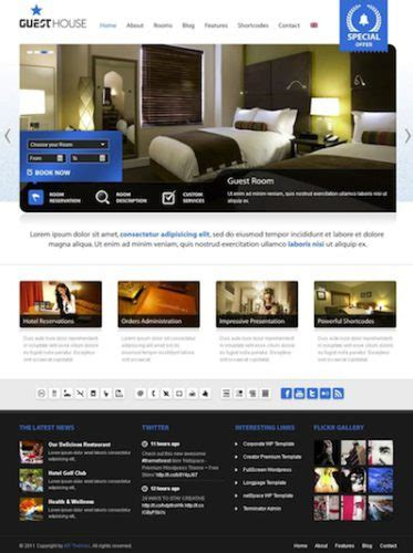 How To Create An Elegant Hotel Website With Wordpress Guesthouse Guest House Website Templates Free