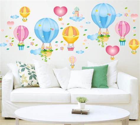 Sticker Pintu Motif Balon Udara sticker wall ay651 dindingcantik