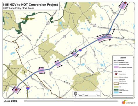 map of atlanta with exits upa crd annual report atlanta i 85 express lanes and