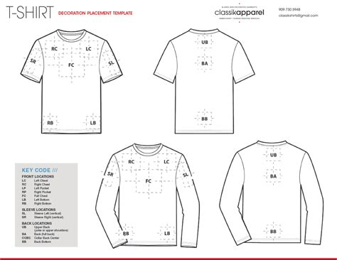 layout logo placement garment templates classikapparel com blanks decorated