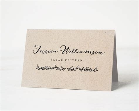 printable place card template wedding place cards