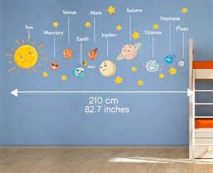 Wall Stickers Glow In The Dark autocollant de syst 232 me solaire pour les enfants cr 232 che ou
