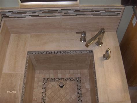 how to make a tile bathtub roman tub with porcelain tile and glass stone details in