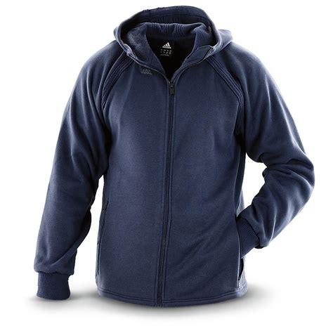Fero Adidas Navy Jaket Sweater adidas 174 fleece zip hooded sweater jacket 579463 sweaters at sportsman s guide