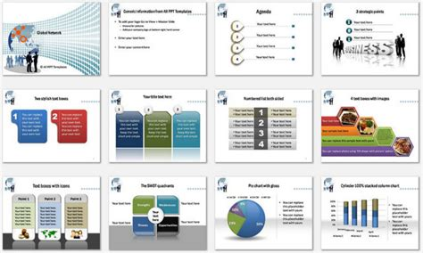 Powerpoint Global Network Template Powerpoint Graphs Templates