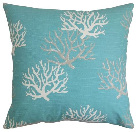 Themed Decorative Pillows by The Pillow Collection 18 Quot Square Hafwen Coastal Throw