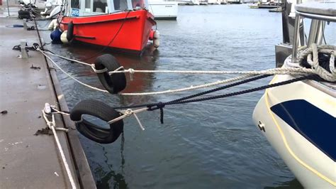 boat mooring how to make winter boat mooring pretty inline snubber or ugly tyre