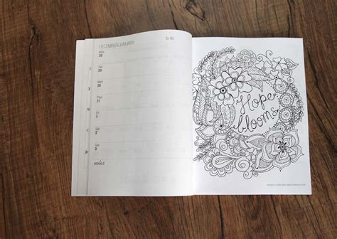 coloring book planner coloring calendar 2016 and free printable bookmarks to