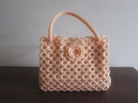 Handmade Knitting Bags - knitting handbag lace knitting handbag fashion knitting
