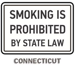 design label connecticut connecticut no smoking sign r5746 by safetysign com
