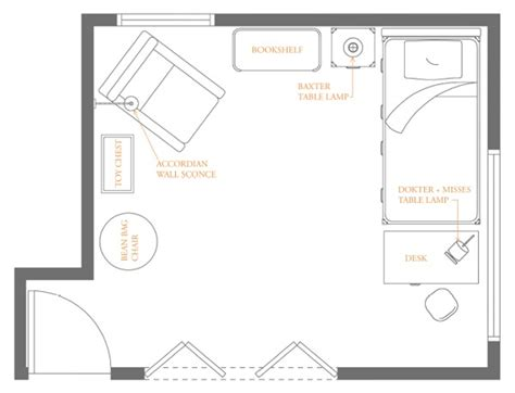 floor plan for kids brooklyn boy s bedroom zach mitchell archinect