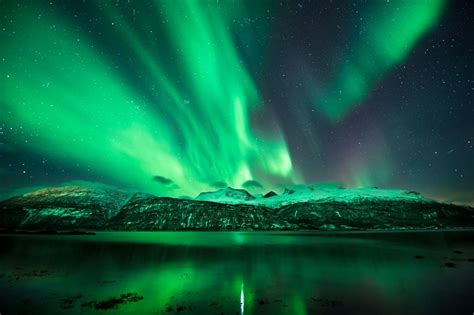 green light in the sky 2017 spectacular displays of the northern lights or aurora