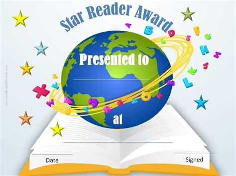 printable star reader certificates free editable reading certificate templates instant download