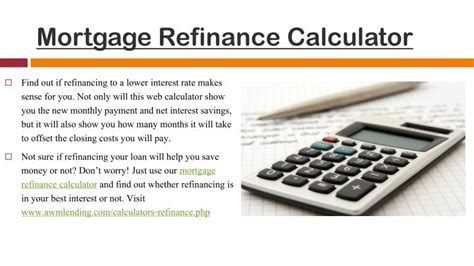 mortgage loans refinance mortgage loan calculator